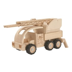 product-Plan Toys Camion de pompier en bois Edition collector