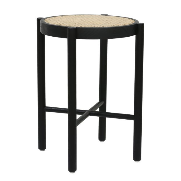 Wondrous Retro Stool With Cane Webbing Black Ocoug Best Dining Table And Chair Ideas Images Ocougorg
