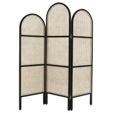 product-HKliving Cane Webbing Room Divider