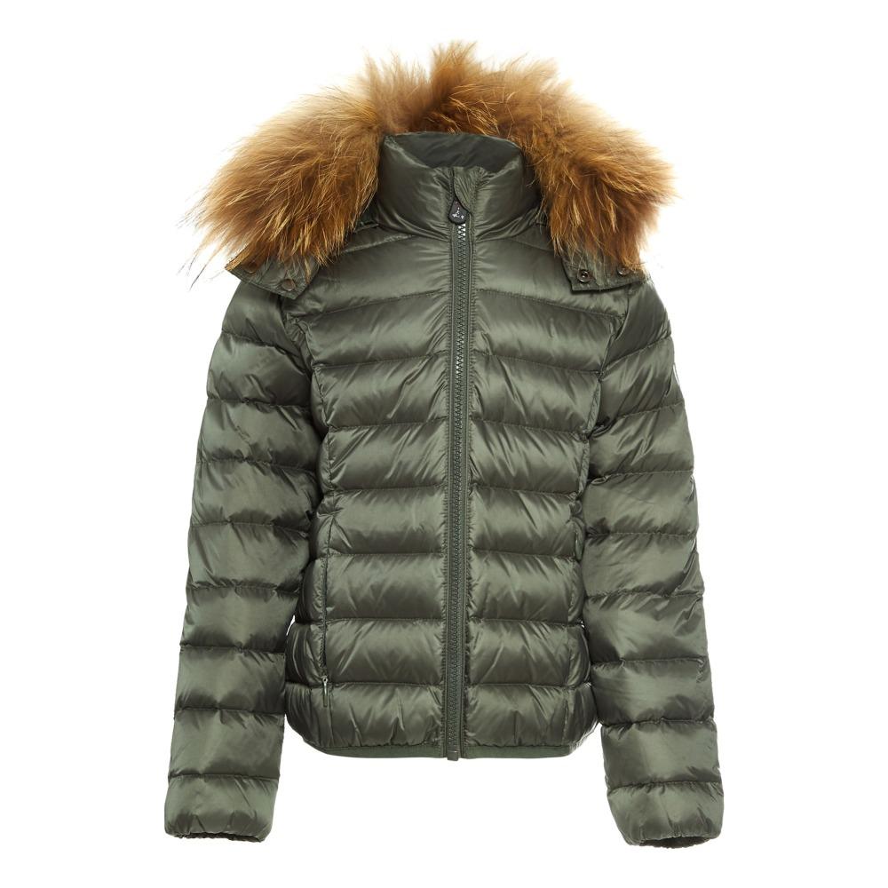 Furred Down Jacket Dark green Jott Fashion Teen , Children. «
