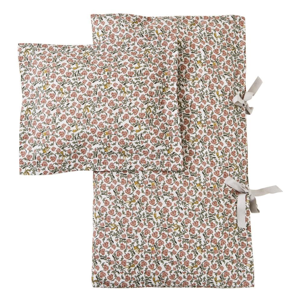 Parure de lit en percale de coton Floral Vine