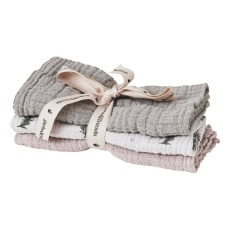 product-garbo&friends Set of 3 Rosemary cotton gauze swaddling cloths