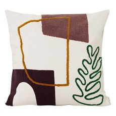 product-Ferm Living Coussin en coton Mirage Leaf