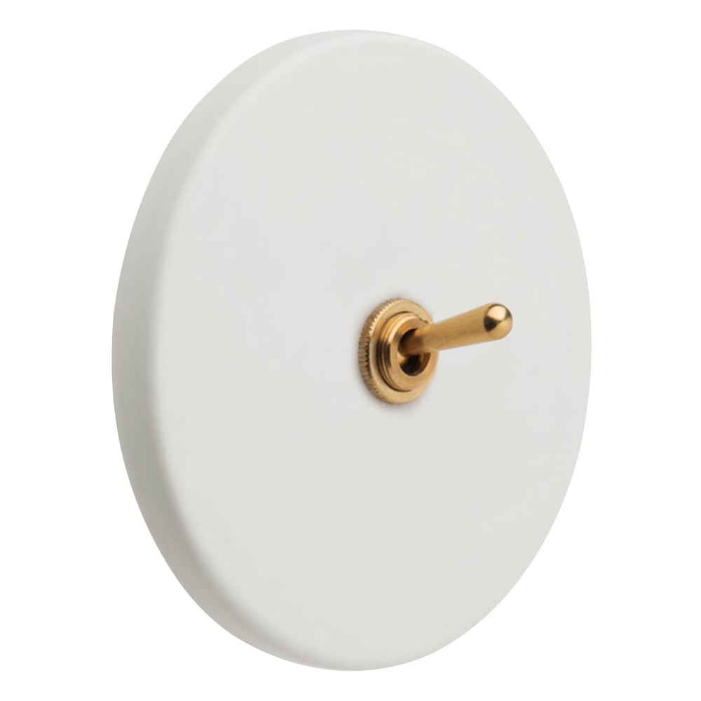 Interrupteur en laiton et porcelaine