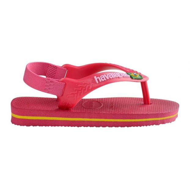 c25a7d04f8cb Brazil logo baby flipflops Red Havaianas Shoes Baby