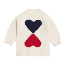 product-Burberry Double Heart Woolen Sweater