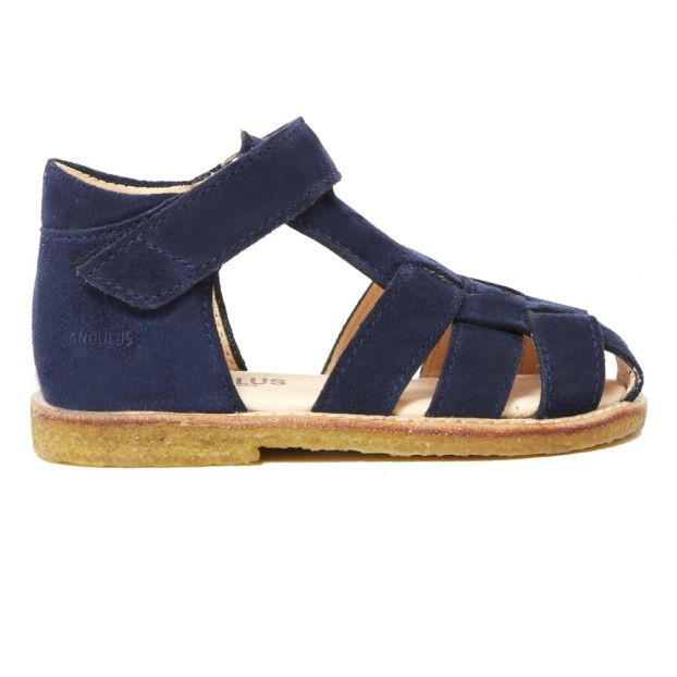 b2ab5d0a237 Leather Sandals Navy blue Angulus Shoes Baby , Children