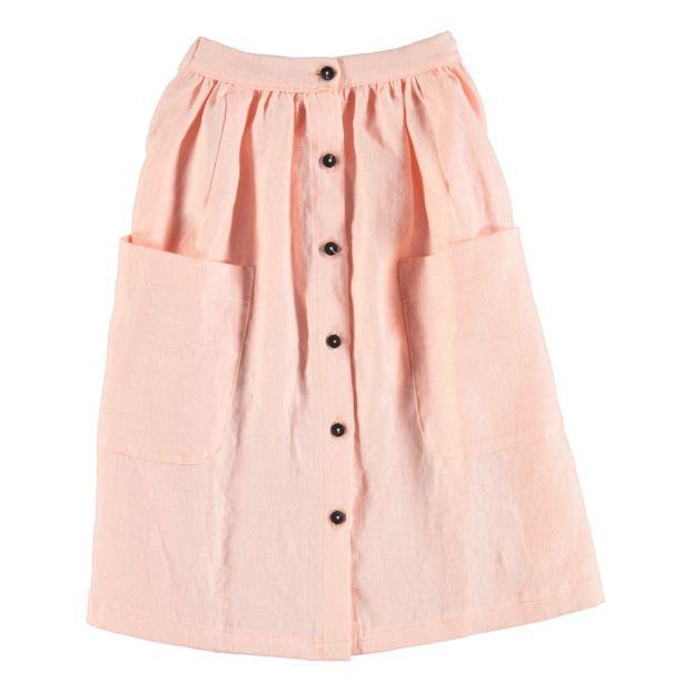 7fcb58c7966 Linen Maxi Skirt Pale pink Piupiuchick Fashion Teen