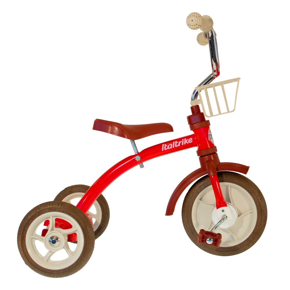 Italtrike - Tricycle avec panier - Rouge