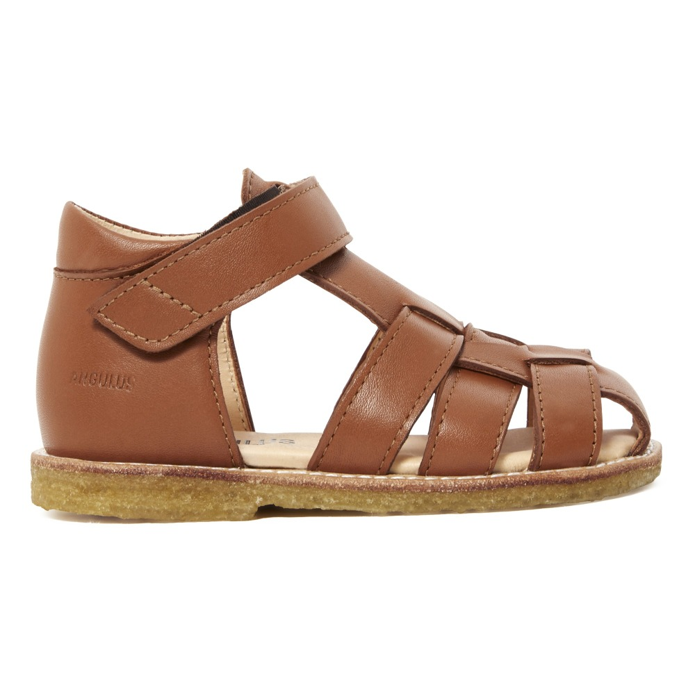 53a512ab34789 Leather Sandals Caramel Angulus Shoes Baby