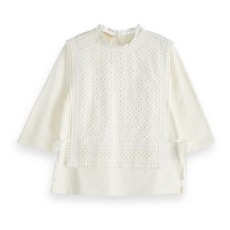product-Scotch & Soda T-Shirt Broderie Anglaise