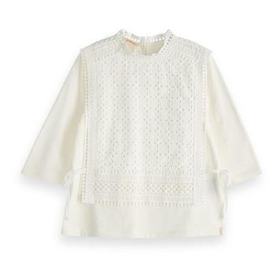 a7db849bb3a Broderie Anglaise T-shirt White Scotch   Soda Fashion Teen