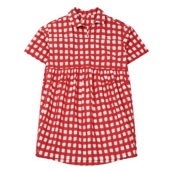 0d51f73c4386 Robe Chemise Carreaux Rouge Marni Mode Adolescent , Enfant