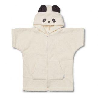 2d761f46ed9 Liewood Poncho de bain Lela Panda en éponge de coton bio-listing