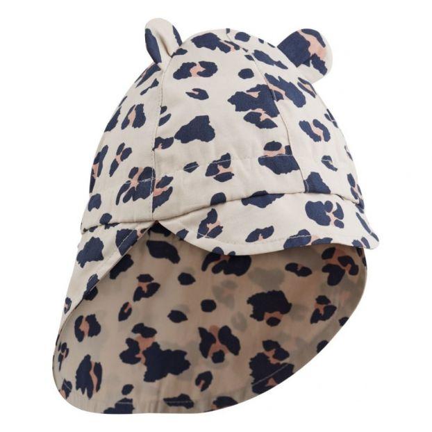 1ae11887dad Leopard print organic cotton sun hat Beige Liewood Fashion Baby