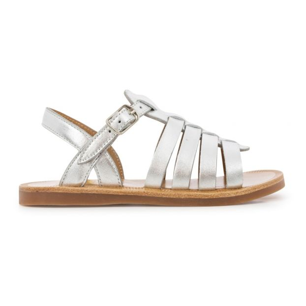 ed80ac90aabb Plagette strappy sandals Silver Pom d Api Shoes Teen