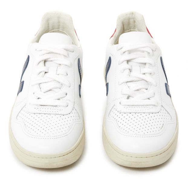 b78cc8418 Zapatillas Cordones Ante V-10 Blanco Veja Calzado Adulto