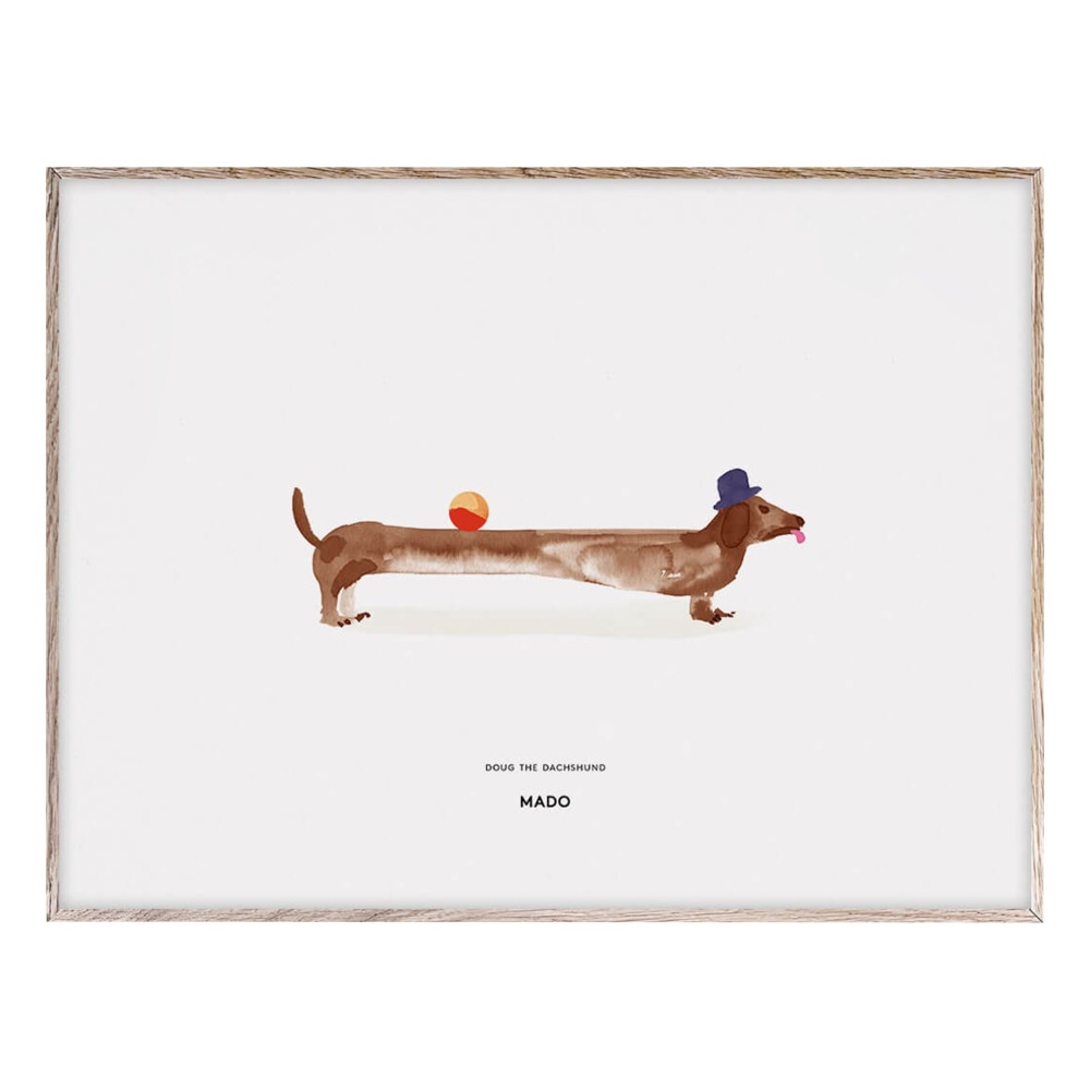 Poster Doug the Dachshund 40x30 cm Must-Have Idee 6388