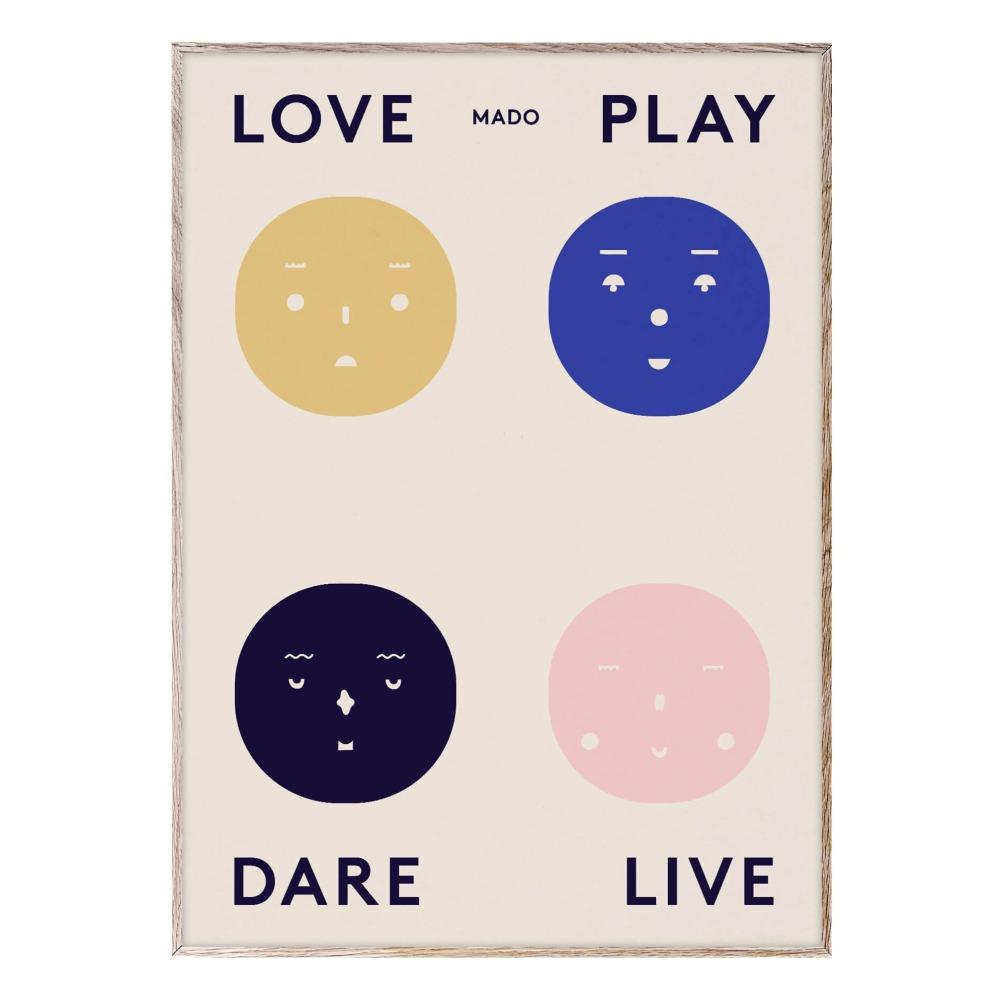 Poster 4 Emotionen 50x70 cm Blogpost 3616