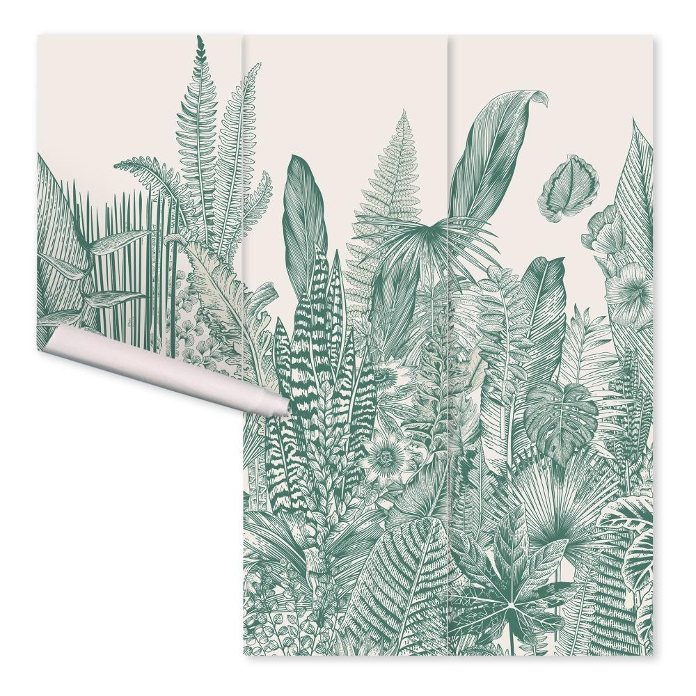 papier peint fresque botanic 3 l s vert papermint design. Black Bedroom Furniture Sets. Home Design Ideas