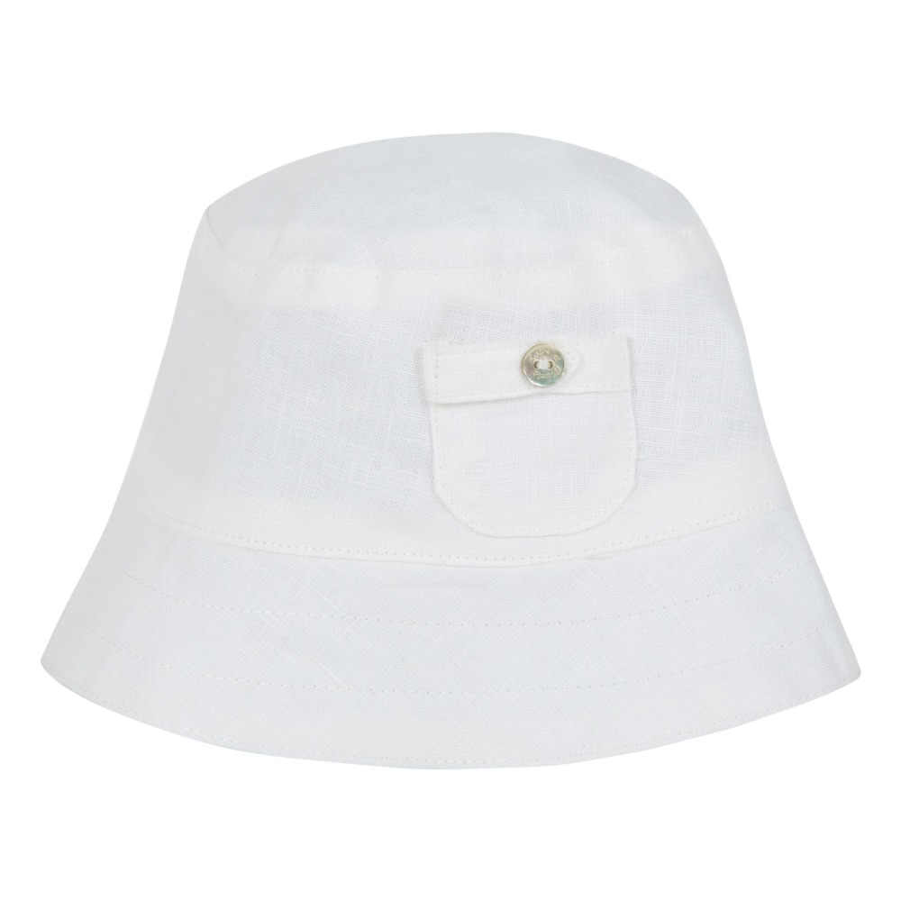 Linen sun hat White Tartine et Chocolat Fashion Baby 4a474dc83b2