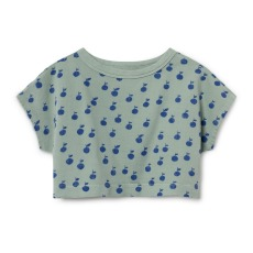 product-Bobo Choses Sweat Cropped Coton Bio Pêches