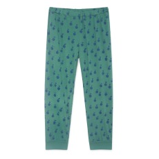 product-Bobo Choses Peach printed cotton and linen jogging bottoms