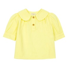 product-Yellowpelota Collar cotton and linen blouse