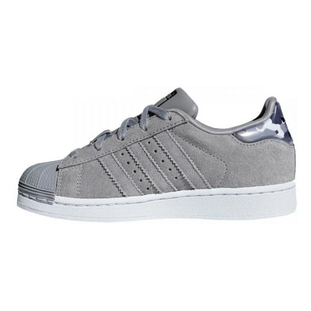 Camouflage Baskets Adidas Gris Anthracite Lacets Superstar Cuir dexoCB