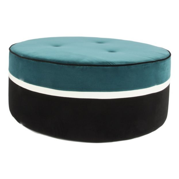 Peachy Leo Velve Pouffe Sarah Blue Caraccident5 Cool Chair Designs And Ideas Caraccident5Info