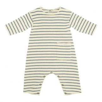 572e10397cc Bow Back Striped Dress Indigo blue Babe   Tess Fashion Baby