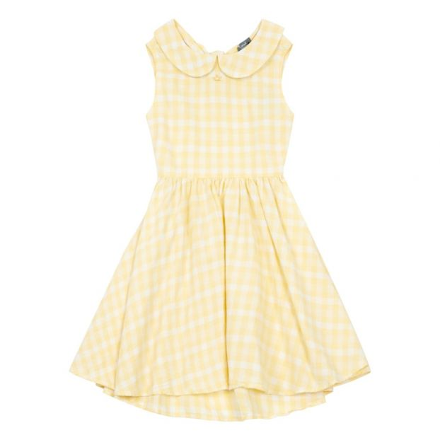 d68b84d61 Gingham dress Yellow Tocoto Vintage Fashion Children
