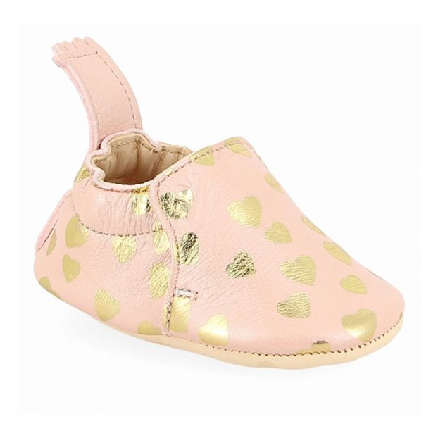 7dcc8d3f9b5d86 Blumoo Leather Slippers Pink Easy Peasy Shoes Baby