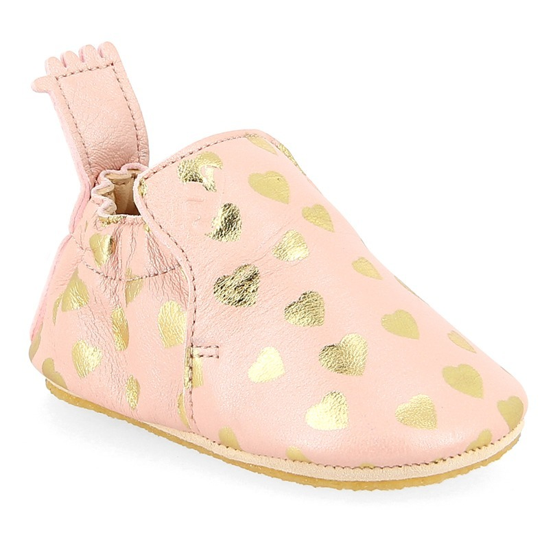 4737b3c0faad27 Blublu Leather Slippers Pink Easy Peasy Shoes Baby. «