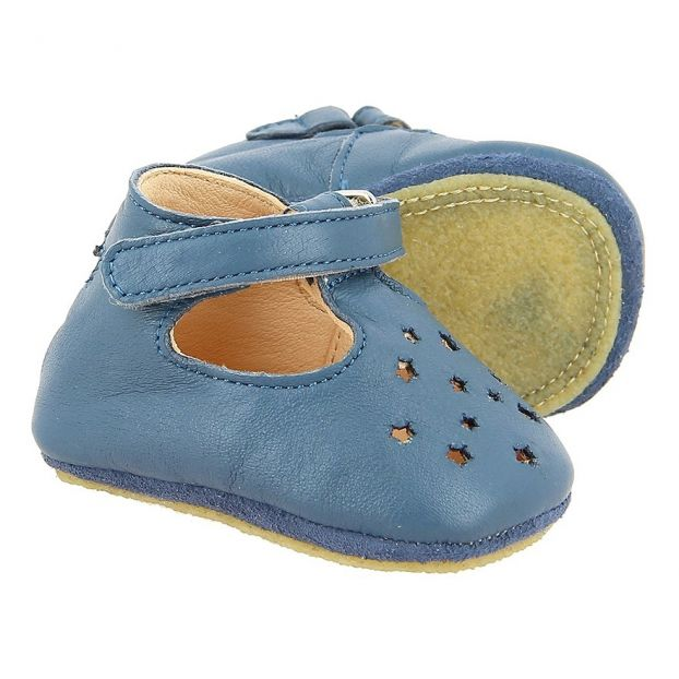 7ea17aea21950f LillyP Leather Babies Navy blue Easy Peasy Shoes Baby