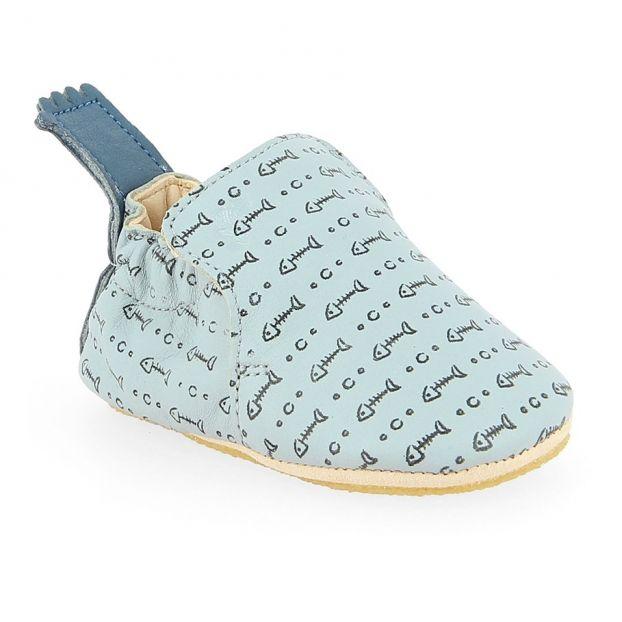 20e06624b02edb BluBlu Leather Slippers Light blue Easy Peasy Shoes Baby