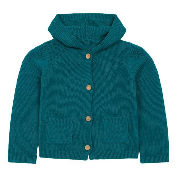 b1ba56872 Hooded cardigan Teal Lab - La Petite Collection Fashion Baby ,