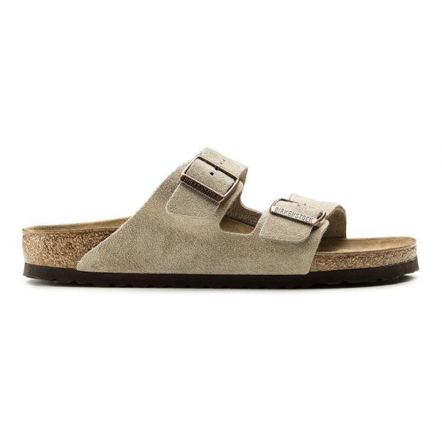634040ebca Arizona Suede Sandals Taupe brown Birkenstock Shoes Adult