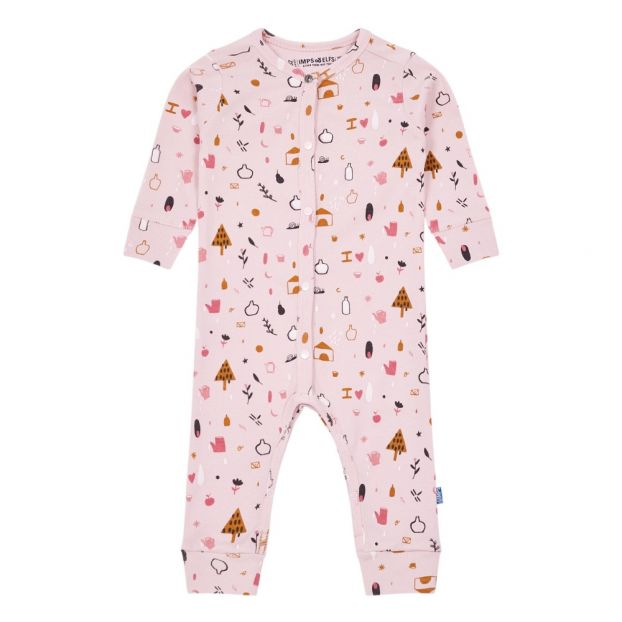 fb1b276616f Organic Cotton Playsuit Pale pink Imps   Elfs Fashion Baby