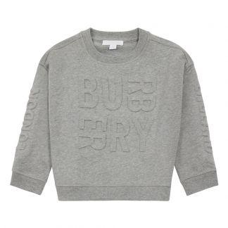 T-Shirt Logo Gris chiné Burberry Mode Adolescent , Enfant 2bb33f0fa08