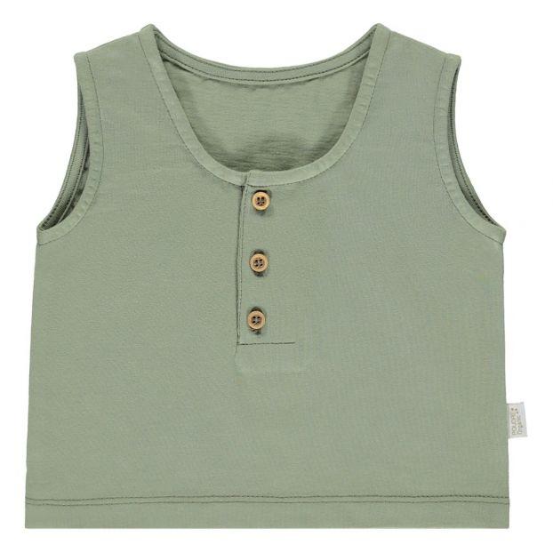 38c6a4bf8 Sureau Tank Olive green Poudre Organic Fashion Baby