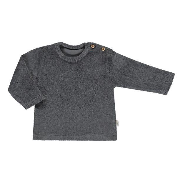 9f7a110f1 Estragon Terry Cloth Sweatshirt Grey Poudre Organic Fashion Baby