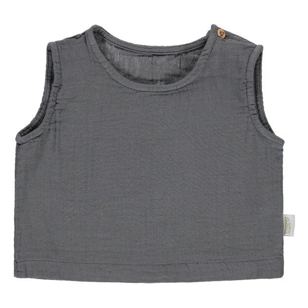 79e5f0535 Ceylan Tank Grey Poudre Organic Fashion Teen