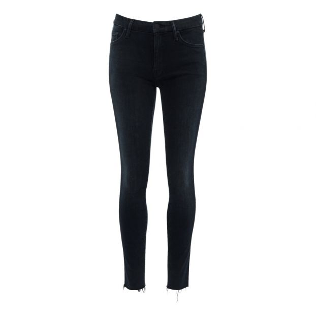 dfcdabc2c1e9 Looker Ankle Fray jeans Black Mother Fashion Adult