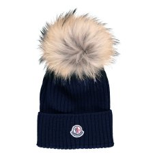 product-Moncler Turn-Up Beanie with Pompom
