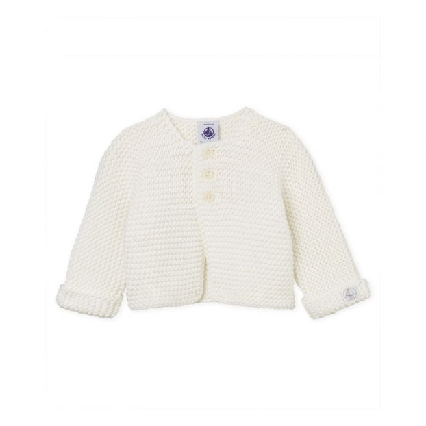 Bab Cardigan White Petit Bateau Fashion Baby 43df21ebf71