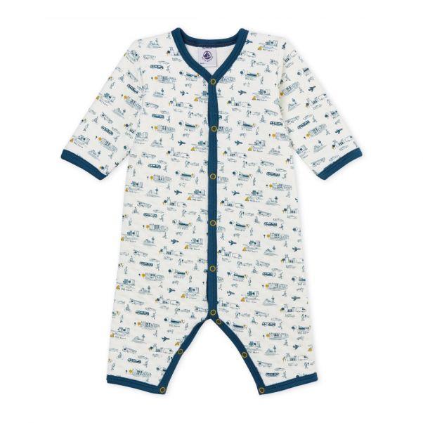 Pijama Bayou Blanco Petit Bateau Moda Bebé ee71df4bc02