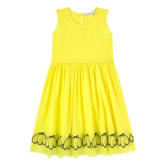 5a2ad08cc83b6 Stella McCartney Kids Bananas embroidered organic cotton dress-listing