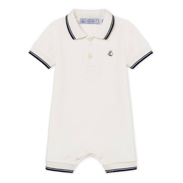433edb4038b Begonia jumpsuit White Petit Bateau Fashion Baby
