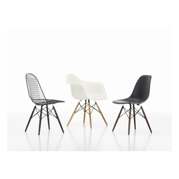 Fantastic Eames Daw Chair Charles Ray Eames 1950 Black Vitra Design Ocoug Best Dining Table And Chair Ideas Images Ocougorg